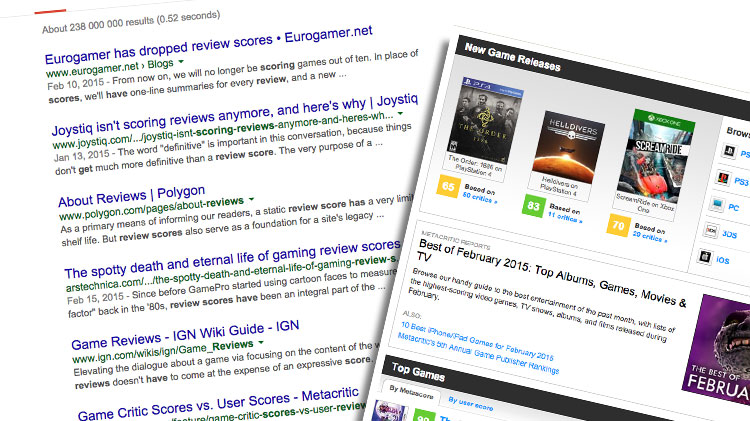 Discussions over the relevance of review scores are all the rage right now