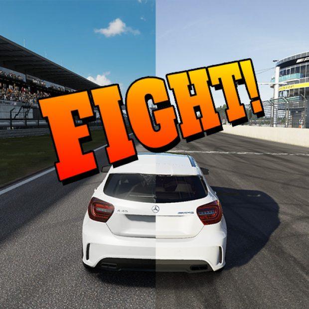 VIDEO FIGHT! Forza 6 vs Forza 7 vs Project Cars 2 – Same Car, Same Track.