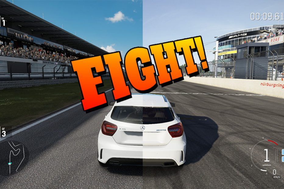 VIDEO FIGHT! Forza 6 vs Forza 7 vs Project Cars 2 – Same Car, Same Track.