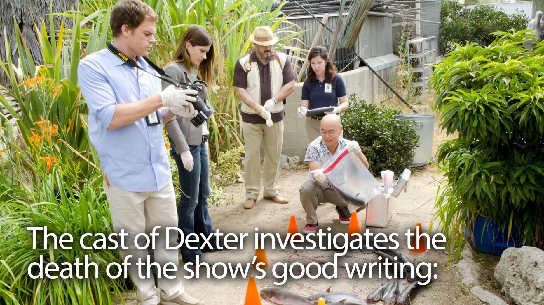 A picture from the TV show Dexter